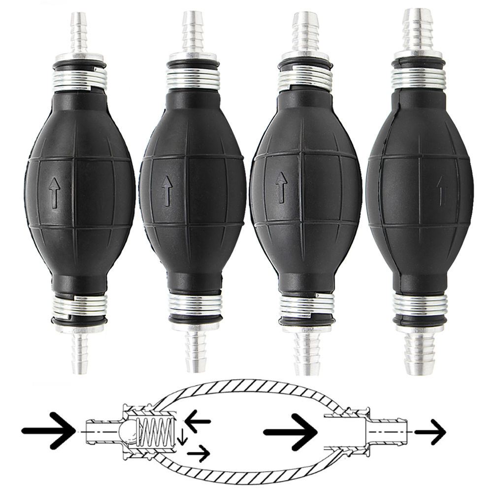 1PC Rubber And Aluminum Fuel Line Pump Primer Bulb Hand Primer Gas Petrol Pumps