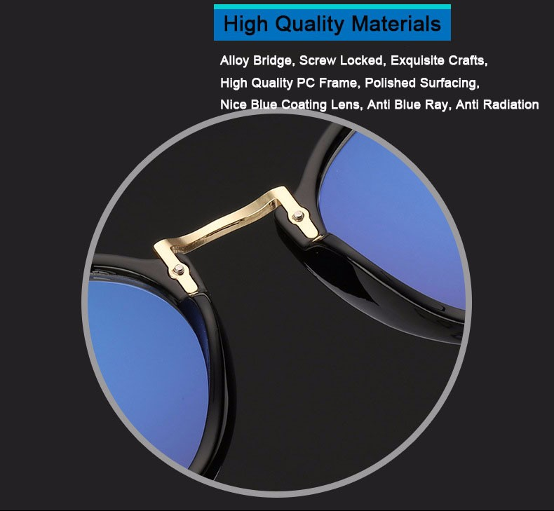 eec19dbc61 Women Computer Glasses For Men Transparent Eyeglasses Round Fashion ...
