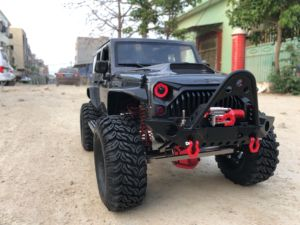 Image 5 - Unassembled 12.3inch 313mm Wheelbase  jeep  Wrangle  Body Car Shell for 1/10 RC Crawler Axial SCX10 & SCX10 II 90046 90047