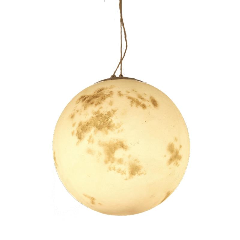 Wongshi Moderno Luna Acrilico Lampada A Sospensione Palla Per I Bambini In Camera Lunare Luna Luce di Notte di Luna Piena Luce Del Pendente