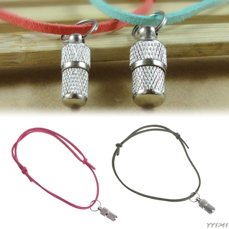 Anti Lost Pet Collar Barrel Tube Collar Name Identity Address Dog Tags With Rope-W110