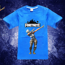 d1bd4b71 Boys T-Shirts Cotton Kids T-Shirt With fortnite celebration dance pattern  Girls T Shirt Kids blue colorful T Shirt Kids big Girl
