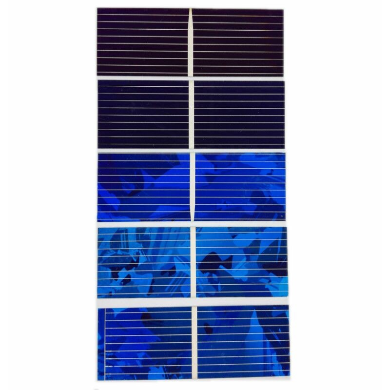 Aoshike 0.5V 0.45A Solar Panel Polycrystalline Silicon Solar Cells Solar Module DIY Solar Sunpower Charger Power 52*26mm 100pcs 3