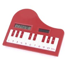 GTFS-New Children 8 Digits LCD Piano Shape Calculating Tool Electronic Calculator
