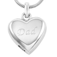 Dad in My Heart Urn Necklace