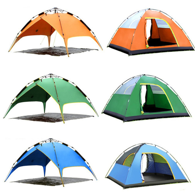 Three-used Automatic Air Pressure Type Tent Portable Rainproof Tent Double Layers Outdoor UV Protection  sc 1 st  AliExpress.com & Three used Automatic Air Pressure Type Tent Portable Rainproof ...