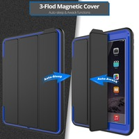 Luxury Smart Wake Up Function Case For IPad 2 3 4 Safe Armor Shockproof Heavy Duty