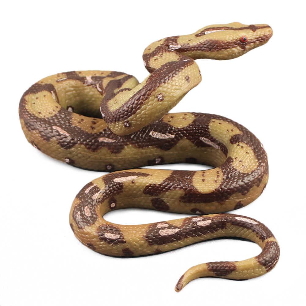 Scary Grote Python Speelgoed Plastic Nep Open Mond Snake Speelgoed Halloween Tuin Props Tuin Props Joke Prank Grappen Speelgoed