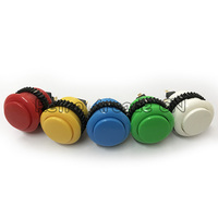 20pcs 24mm High Quality Arcade Button Round Push Button Built in Small Micro Switch For Arcade Jamma Mame game machin