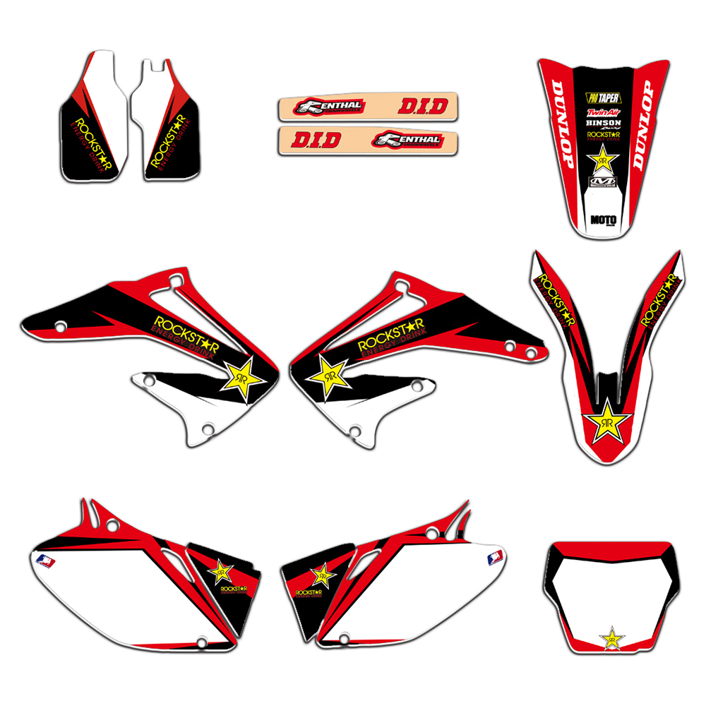 New Style TEAM GRAPHICS BACKGROUNDS DECALS STICKERS Kits for Honda CRF450R CRF450 2002 2003 2004 CRF