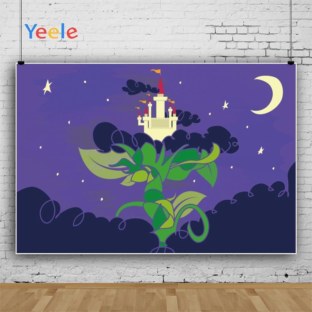 Yeele Wallpaper Night Tree Castle Children Room Decor Photography Backdrop Personalized Photographic Background For Photo Studio in Background from Consumer Electronics
