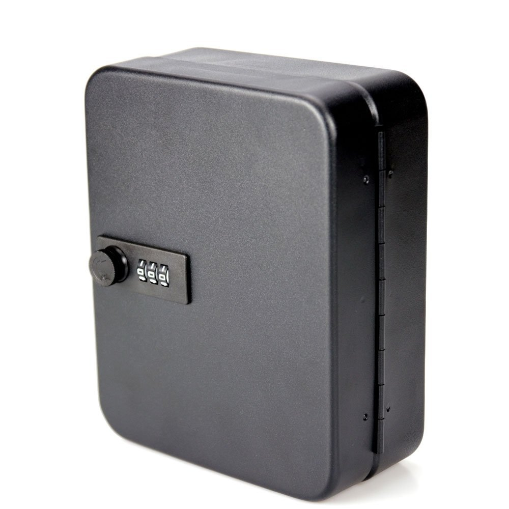 Key Cabinet Box 36 Tags Fobs Wall Mounted Lockable Security Metal Cupboard Safe For Home Property Management Company