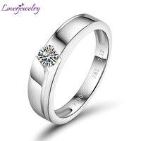 Oszałamiająca 0.20ct Cert Diament W Platinum PT900 Obiecał Diamentowe Wesele Ślub Fine Jewelry Dla Pary WU141