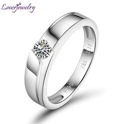 Женское кольцо с бриллиантами, свадебное кольцо из платины PT900 с бриллиантом, 0,20 карат, подарок для девушки