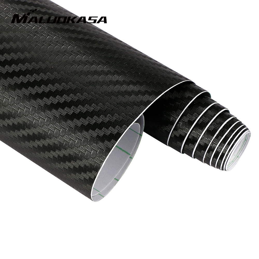 MALUOKASA 127cmx30cm 3D Auto Carbon Fiber Vinyl Film Carbon Car Wrap Sheet Roll Film Paper Motorcycle Car Stickers Decal Sticker imc hot 10 pcs rj45 8p8c double ports female plug telephone connector