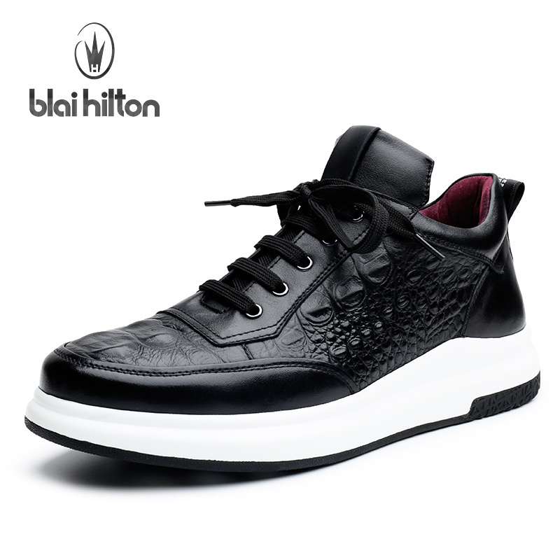Blai Hilton 2017 New Fashion Spring/Autumn men shoes Genuine Leather shoes Breathable/Comfortable Lace-Up Men's Casual Shoes klywoo new white fasion shoes men casual shoes spring men driving shoes leather breathable comfortable lace up zapatos hombre