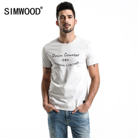 SIMWOOD 2018 Summer New Letter T Shirt Men Slim Fit O Neck Fashion Casual Tshirt High