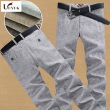 2017 Summer Fashion Thin New Mens casual Cotton mens linen Male Long Pants High Grey Trouser Time limited