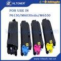 4 uso compatível cartucho de toner para Kyocera Ecosys pçs/set TK5140 P6130/M6030cdn/M6530cdn