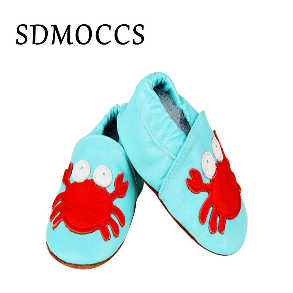 Pick 21 Design Fashion Cow Leather Baby Shoes Soft Soled Baby Boy Shoes Girl Newborn Infant First Walkers 0-24M