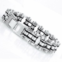 316 L stainless steel bracelet jewelry silver bicycle chain personalized bracelet cool non mainstream S174