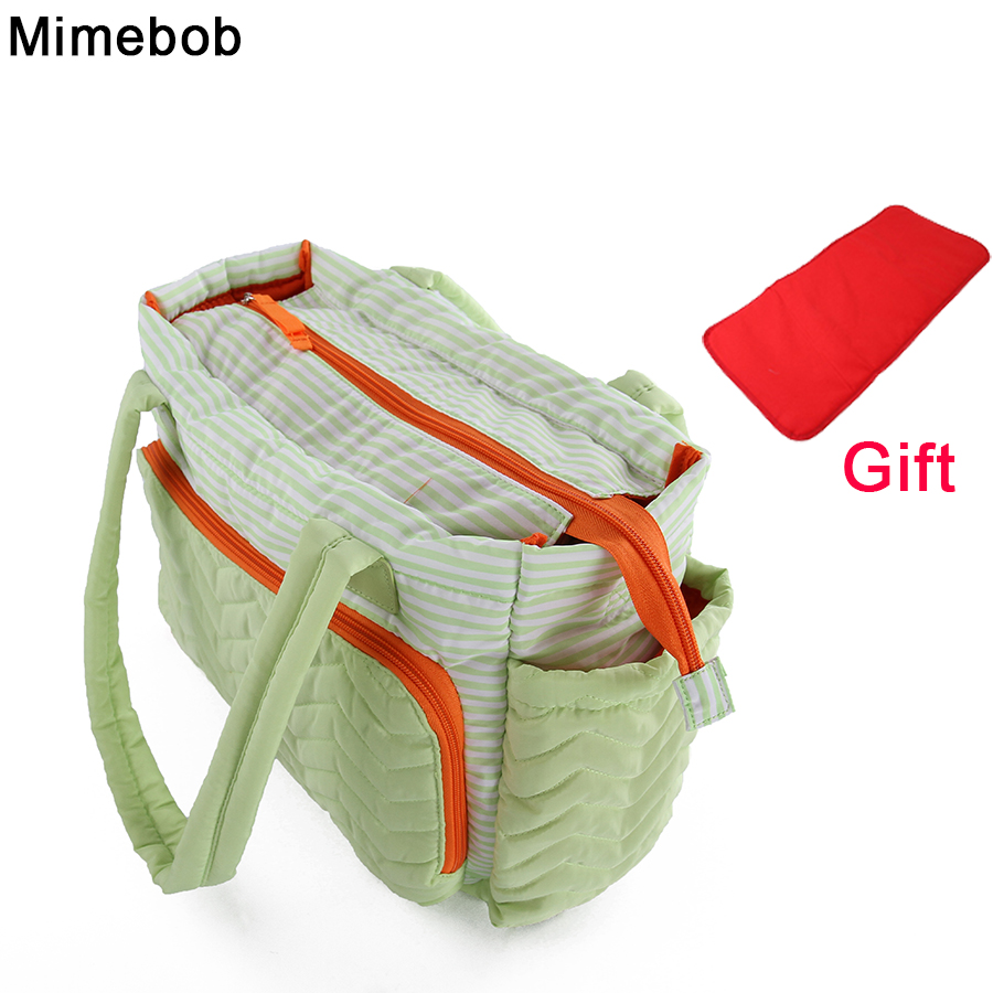 Detail Feedback Questions about Stripe Large Bag Women Mummy duffel bag  High quality baby Diaper Bag with Pad mommy Baby Nappy Care maternity mom  Travel on ... 414e8caad5