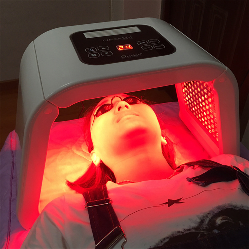 Healthsweet 4 Colors PDT Photon Therapy Beauty Machine LED Facial Mask SPA Phototherapy For Face Skin Rejuvenation Acne Remover 7 colors light photon electric led facial mask skin pdt skin rejuvenation anti acne wrinkle removal therapy beauty salon