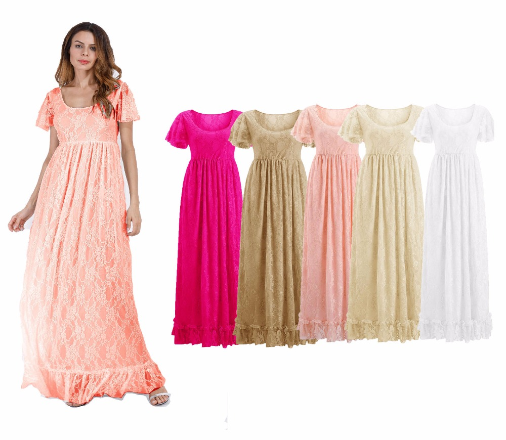 2018 Women Dress Maternity Wedding Photography Props Lace Pregnancy Clothes Maternity Dresses For pregnant Photo Shoot Clothing 2017 maternity photography props dresses clothes for pregnant women photo shoot lace dress pregnancy take photo clothing m817