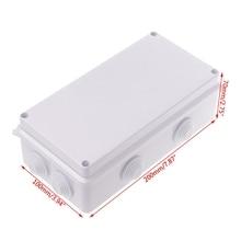 Водонепроницаемый пластиковый корпус Чехол распределительная коробка питания IP65 200 мм x 100 мм x 70 мм Mar28