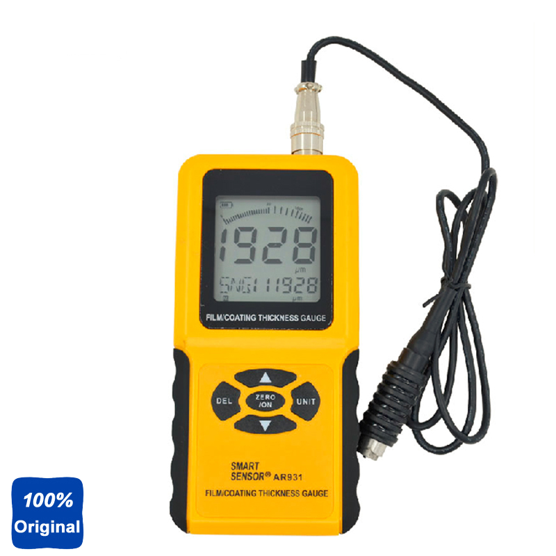 Original AR931 Ultrasonic Film Thickness Meter Coating Thickness Gauge Paint Thickness Tester cm 8000 hexagon wet film comb for coating thickness tester meter 5mil 118mil