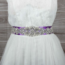 2015 New Design Fashion Rhinestones Wedding font b Dress b font Belt Bridal Sash Evening font