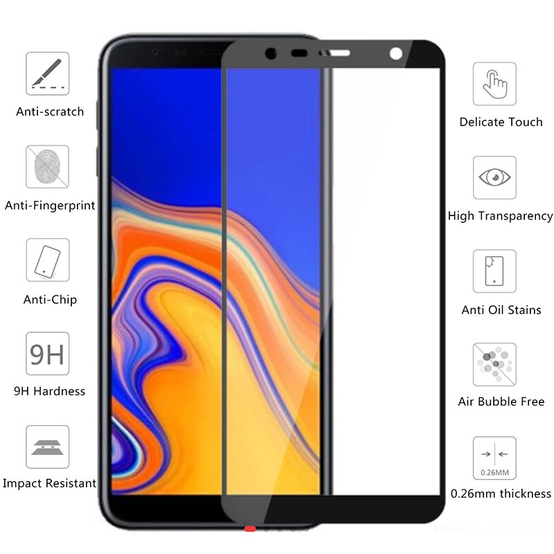 "Image 2 - cover For Samsung J4 plus 2018 protective glass Global version on for samsung galaxy j4 j 4 j4plus j42018 6.0"" case covers film-in Phone Screen Protectors from Cellphones & Telecommunications"