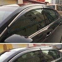 For Honda Accord Car Window Visor Wind Deflector Rain Sun Visor Shield Cover ABS Awnings Shelters