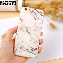 HOTR Marble Stone Pattern Soft Phone Cases For iphone 5s Case For iphone 5c TPU Protect Phone Back Cover For iphone 5 5s SE 5c