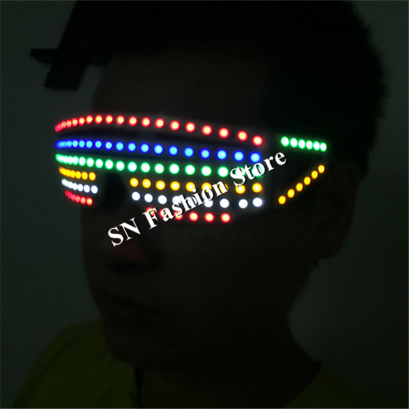 T25 Colorful led light glasses ballroom dance stage costumes dj disco dancer wears party cosplay costumes led clothes suit propsT25 Colorful led light glasses ballroom dance stage costumes dj disco dancer wears party cosplay costumes led clothes suit props