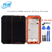 WEICHENG For Blackview BV4000 LCD Display+Touch Screen Digitizer Assembly With Frame Replacement BV 4000 Pro+Free Tools