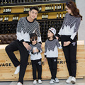 autumn and winter 2017 new children 's clothing family home sweatshirts Dad Mom Baby Long Sleeve t-shirts