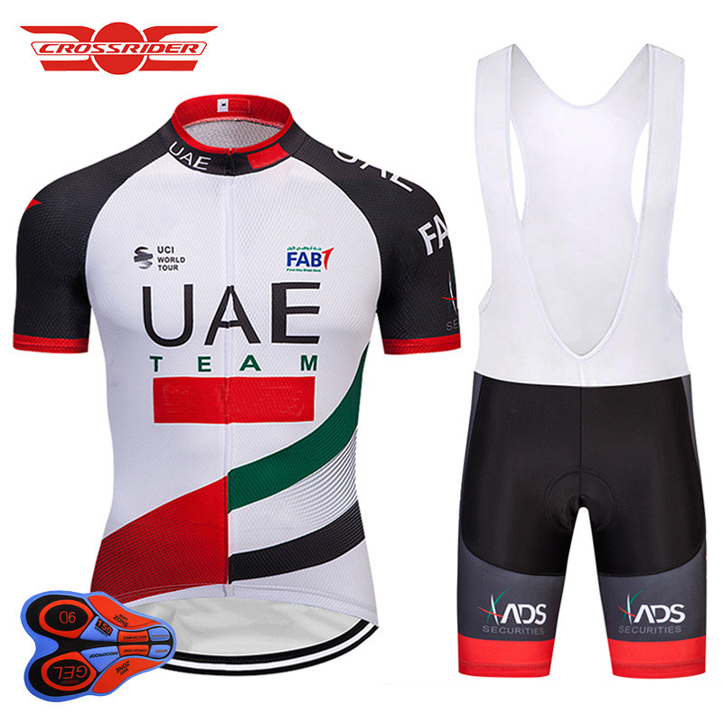 2018 Pro Team UAE Cycling Jerseys Sets MTB Mountain bike Clothing Bicycle Wear Clothes Mens Shorts Maillot Culotte Sports Suit