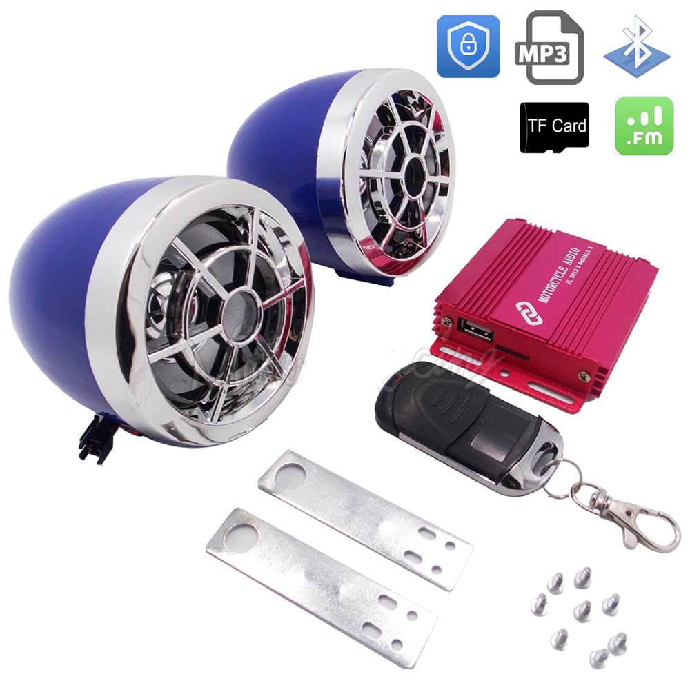 Motorcycle MP3 Player Music Audio System Support FM USB TF Card Moto Bluetooth Speaker Scooter Anti-theft Protection Alarm