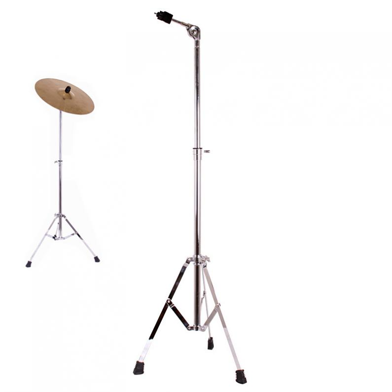 Full Metal Adjustment Foldable Floor Cymbal Triangle-bracket Stand Holder Jazz Drum Set Percussion Instrument Accessories