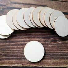 50pcs Laser Cut Customized Wedding Wooden Circle Blank Wood Round Crafts Painting Decor Disc DIY