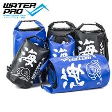 Water Pro Sea 20L Waterproof Dry Bag Black/Blue Camping Sailing Kayaking Canoeing Rafting Surfing