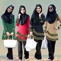 Новый дизайн Мусульманин Платье Женщины Исламская Абая Турецкий хиджаб Одежда джилбаба и abayas Турция Халат Мусульманского Платья Паранджу Платье