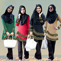 Nuevo diseño Mujeres Del Vestido Musulmán Ropa jilbab Abaya Islámico hijab Turco y abayas Musulmana de Pavo Túnica Vestidos Vestido Burka
