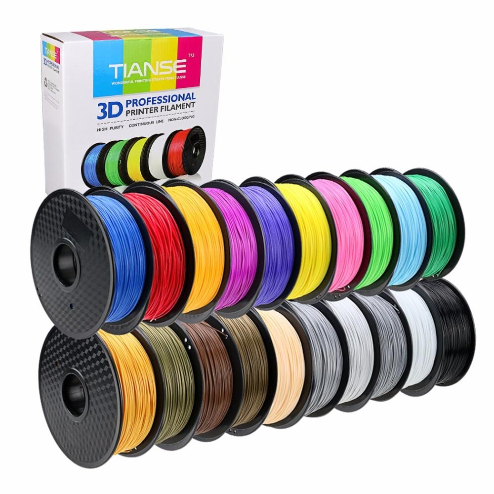 Material dos materiais de consumo da impressão do pla 1.75mm 400 m longo das cores diferentes do pla do filamento 3d para a borracha plástica do pla do abs da pena da impressora 3d