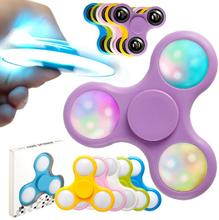 2017 Hand Spinner Lumineux Led Plastic Clignotant Fidget Spinner Lumiere Grossiste Light up Glow in the