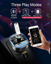 FM Transmitter Bluetooth Car Kit MP3 Player LED Dual USB 4.1A Charger Voltage Display Micro SD TF Music Playing for Vehicle