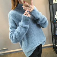 Thick Woman Winter Sweaters Solid Color Female Casual Knitted Pullovers Loose Warm Sweater for New