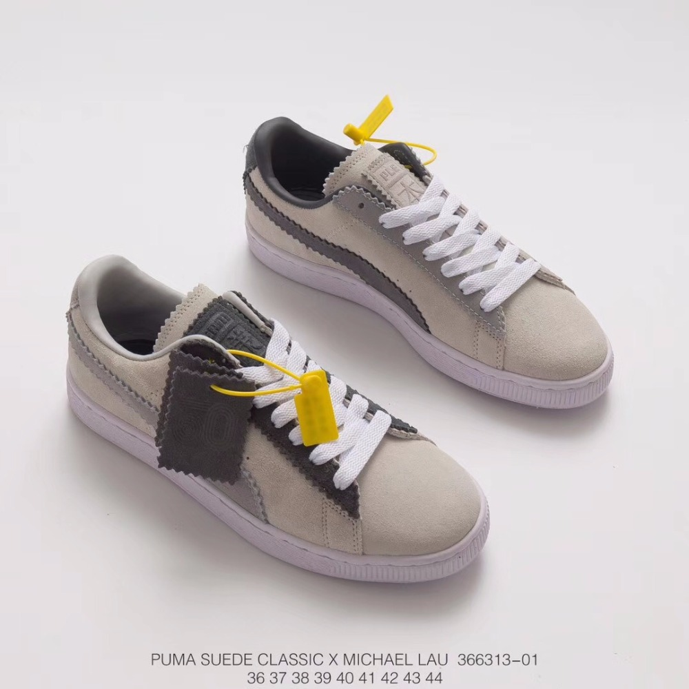 2018 PUMA x SUEDE CLASSIC X MICHAEL LAU Sneakers Shoes Men's and Women's 366313-01 50th Anniversary Memorial badminton shoes the new puma womens shoes classic high classic star high tongue series white leather laser badminton shoes