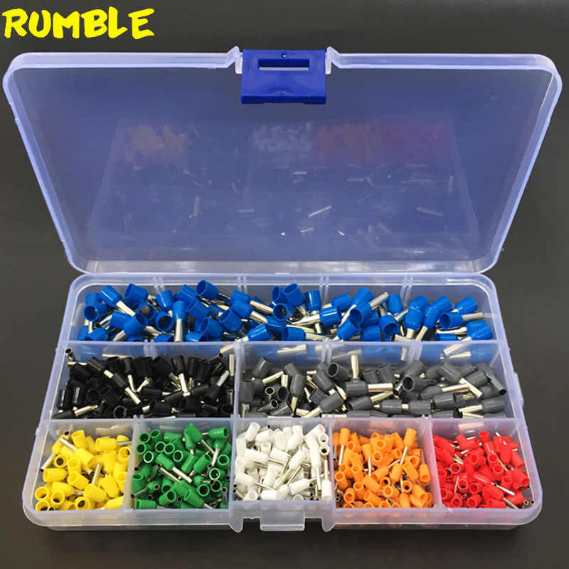 620pcs 22-10AWG Electrical Wire Cable Tube Insulated Cord Pin End Terminals Copper Crimp Connector Ferrules Kit Tool Set In Box